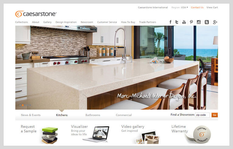 Image Showing Caesarstone website preview