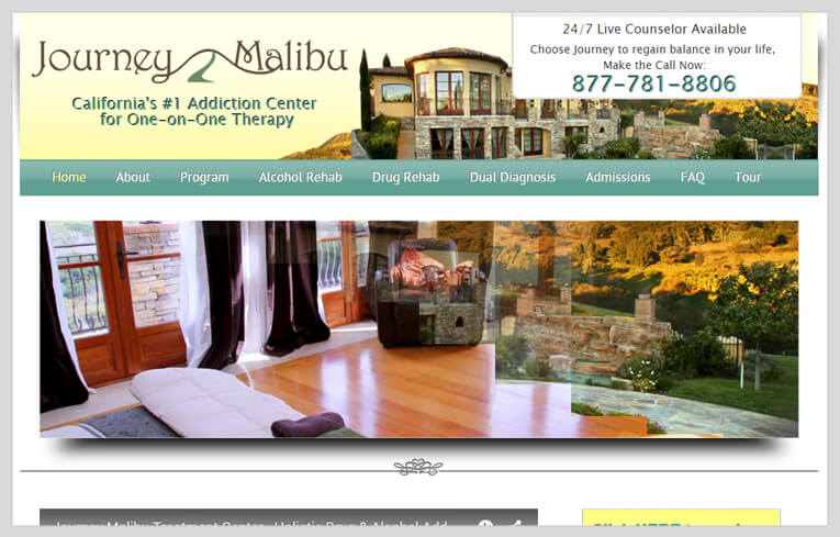 Image showing Journey Malibu website preview