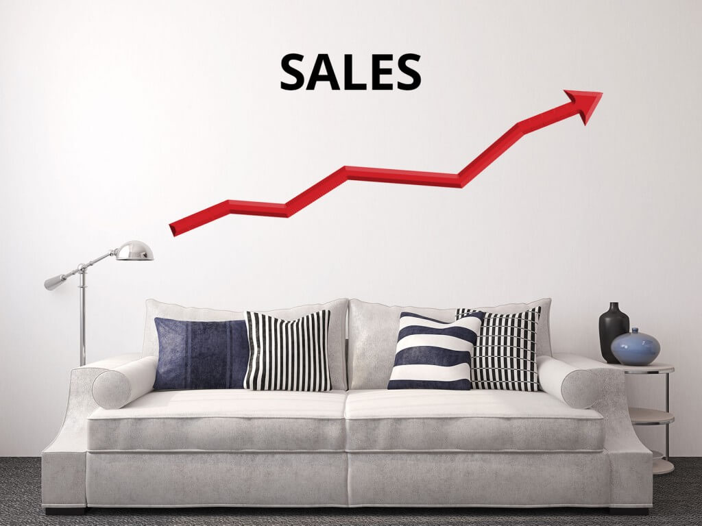 Image showing Home decor, interior design, and home furnishings industry sales growing