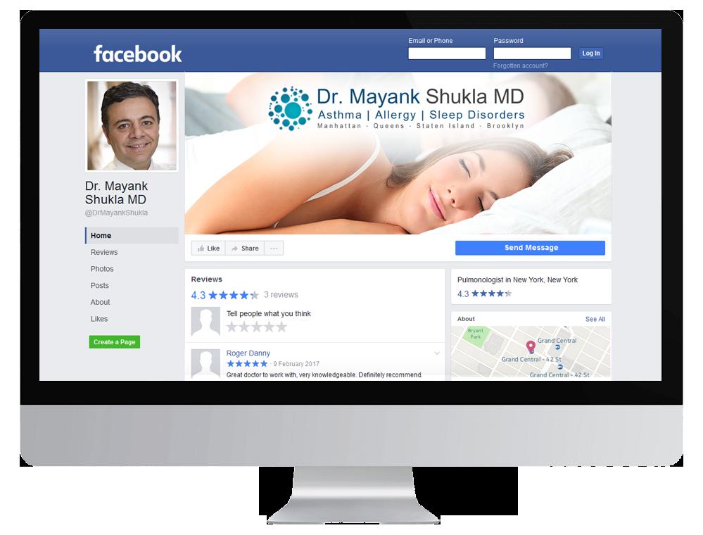 Image showing Healthcare Facebook Mockup
