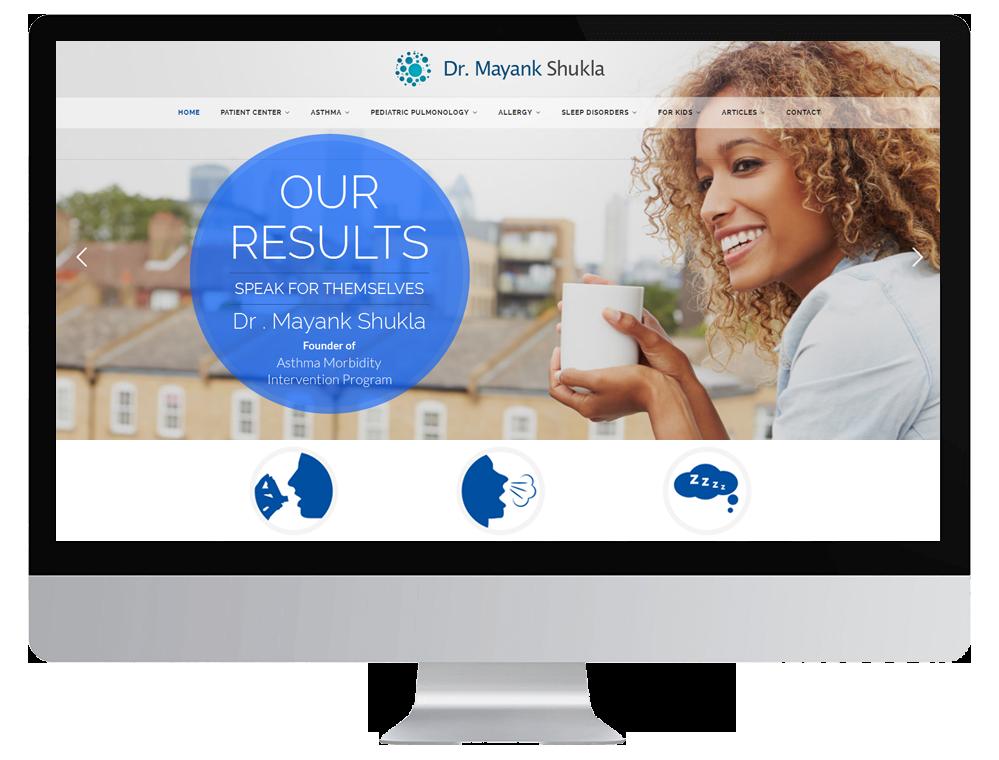 Image showing Healthcare Website Mockup